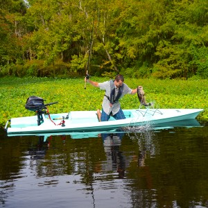 The Solo Skiff, a kayak with a kick!