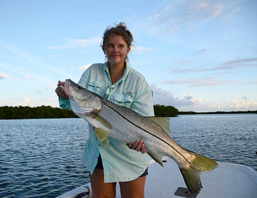 Snook fishing with Lindsay Rowland.