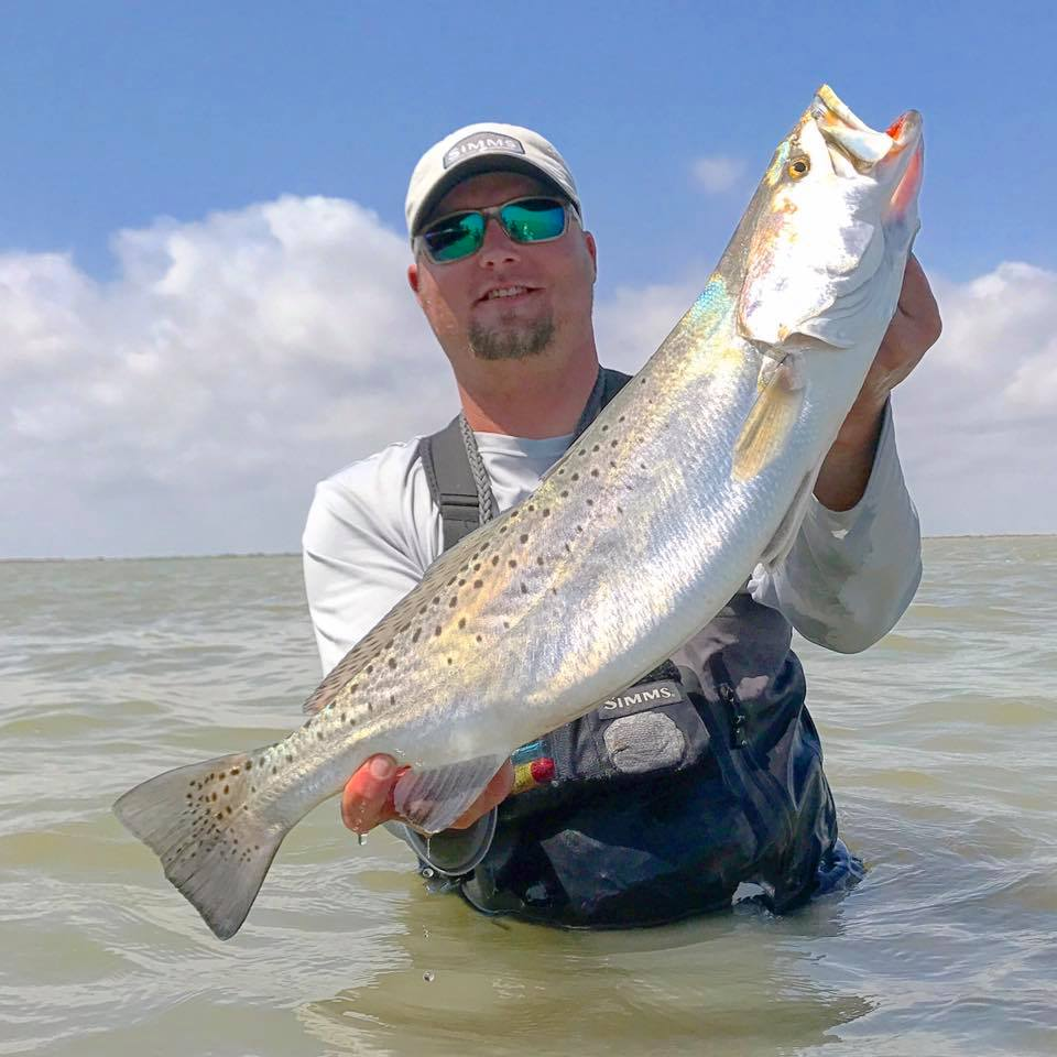 Corpus christi tx trout fishing on fire skiff life for Fishing report corpus christi texas