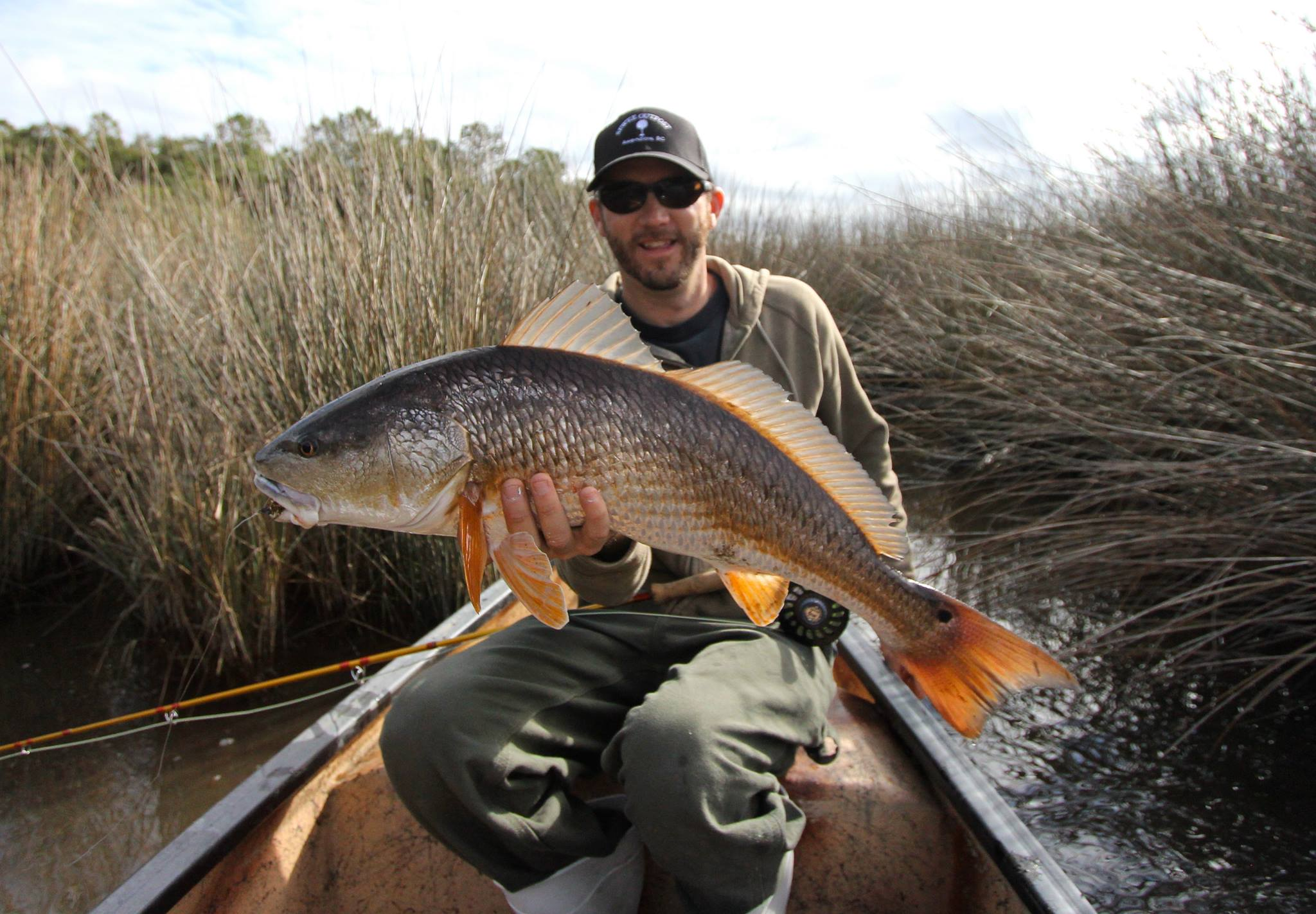 Gorgeous south carolina redfish on fly for Charleston fly fishing