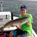 Caden's first ever redfish!