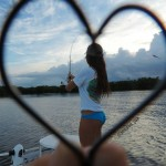 Jessica loves fishing for Redfish with best friend Haley
