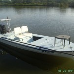 "Meet Phil Carter's 2007 ""Tom Gordon"" built Hell's Bay Waterman 16′ with Tohatsu 50hp Tiller"