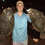 Cameron with MONSTER Flounder(s) in NC