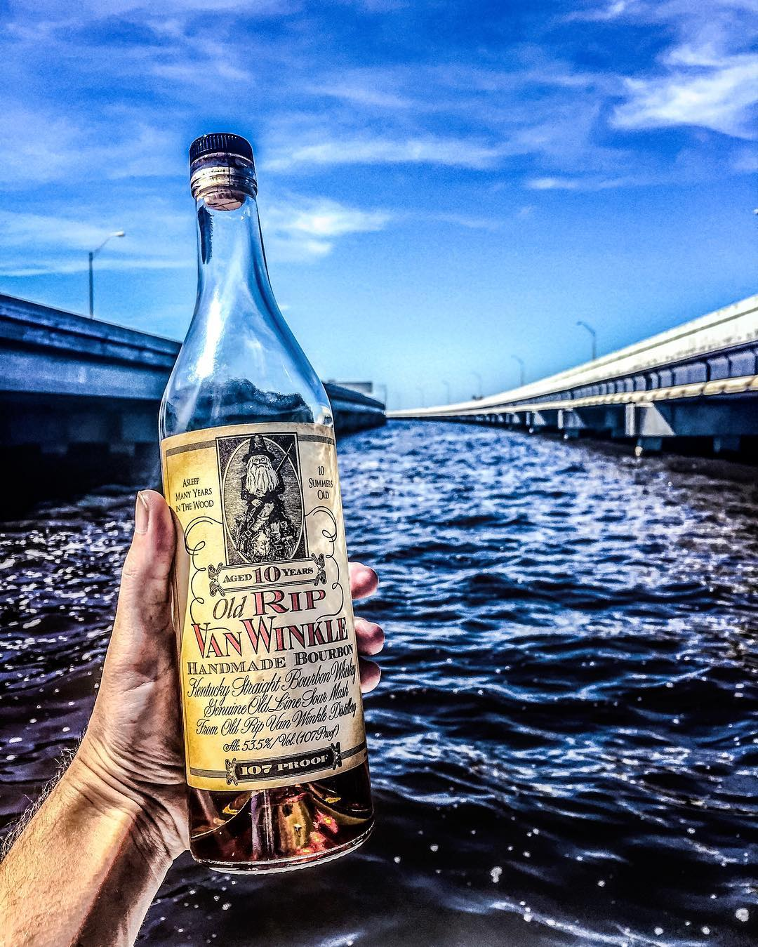 A little bourbon between the bridge while the Hurricane Waters subside. It's bee...