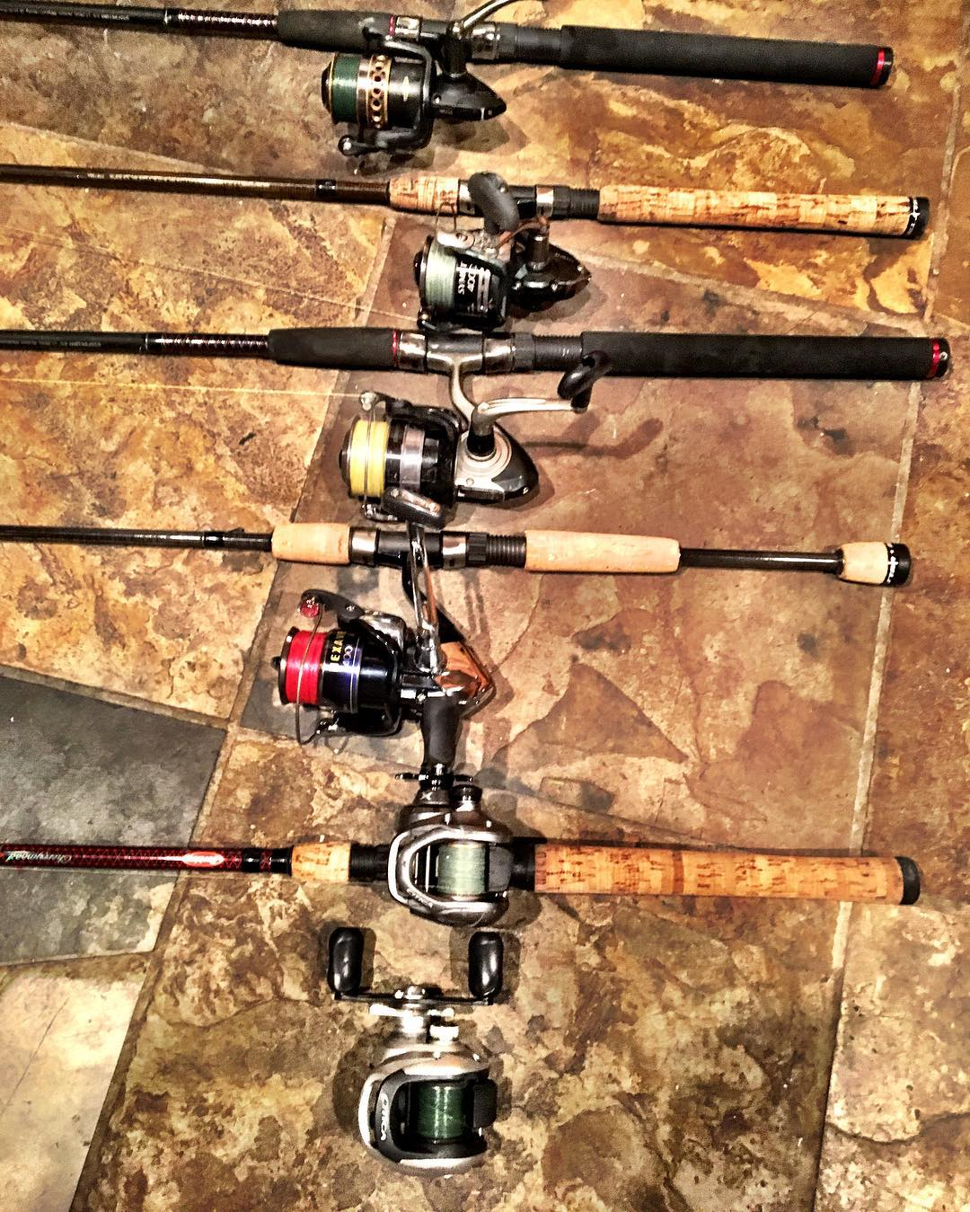 Cleaned up and ready to take my Dad out to catch some Bulls on light tackle tomo...