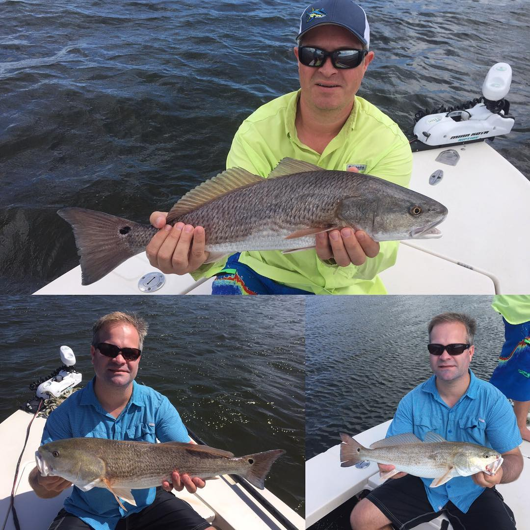 Hunter and Dave had a blast catching 12 redfish with me on our afternoon trip!  ...