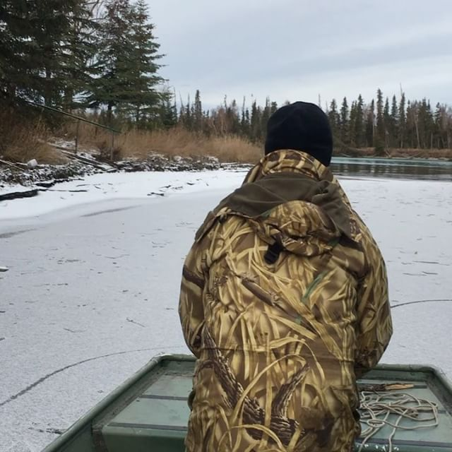 No hard water is going to keep  any good Alaskan off the river. #alaskalife #win...