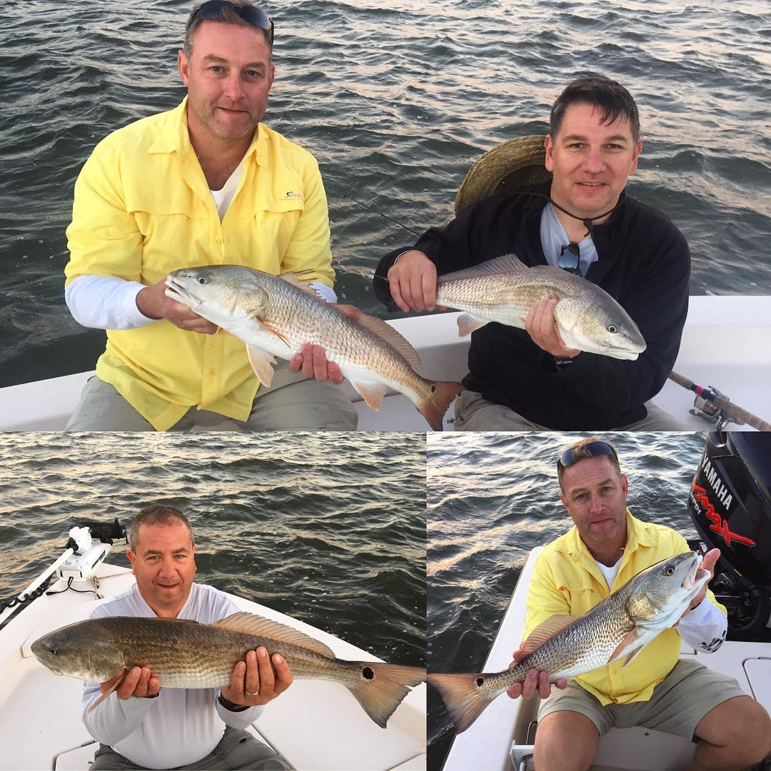 Todd and his crew had a blast tearing up the redfish today!#portcanaveral #sligh...