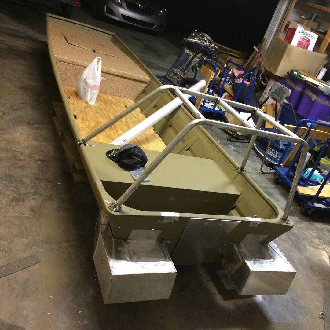So far so good! We added our MudFish Lift Pods to this boat to add stability and...