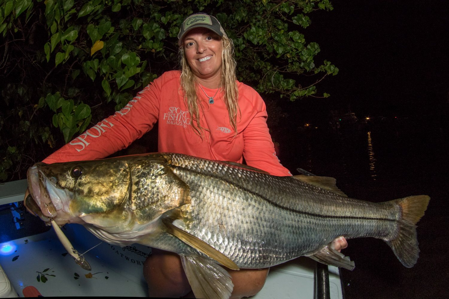 Indian River Snook caught by Gina.