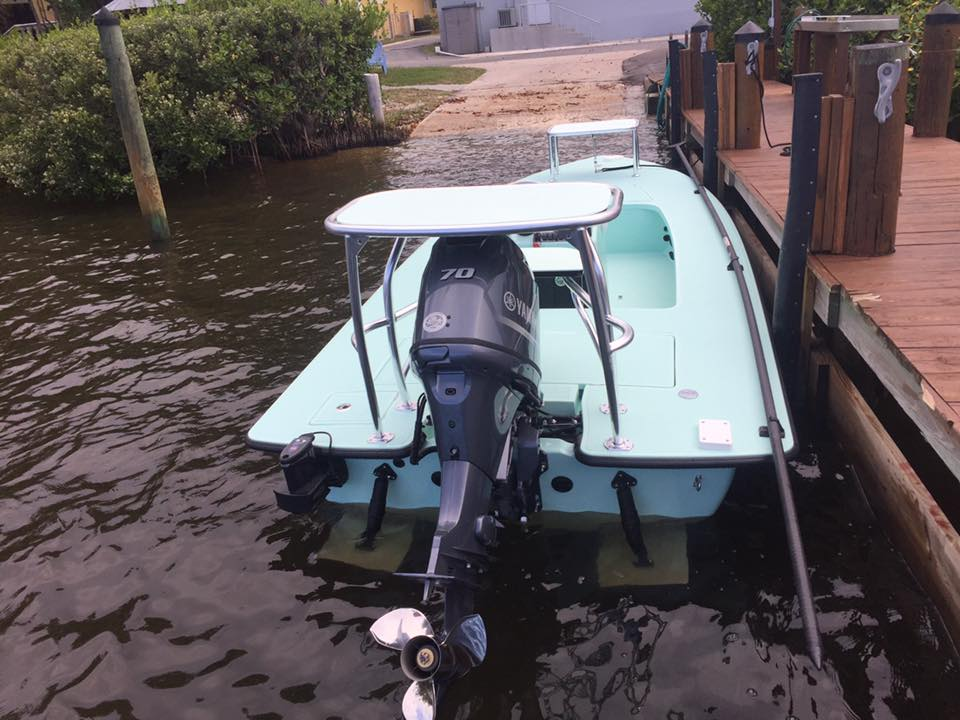 Chittum Skiffs splashes the latest Islamorada 18