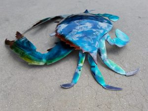 metal-crab-nautical-art
