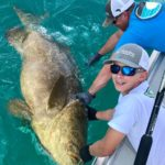 Youngest Angler catches Goliath Grouper on Sanibel Charter
