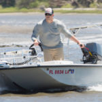 Skiff in Shallow Water Boating