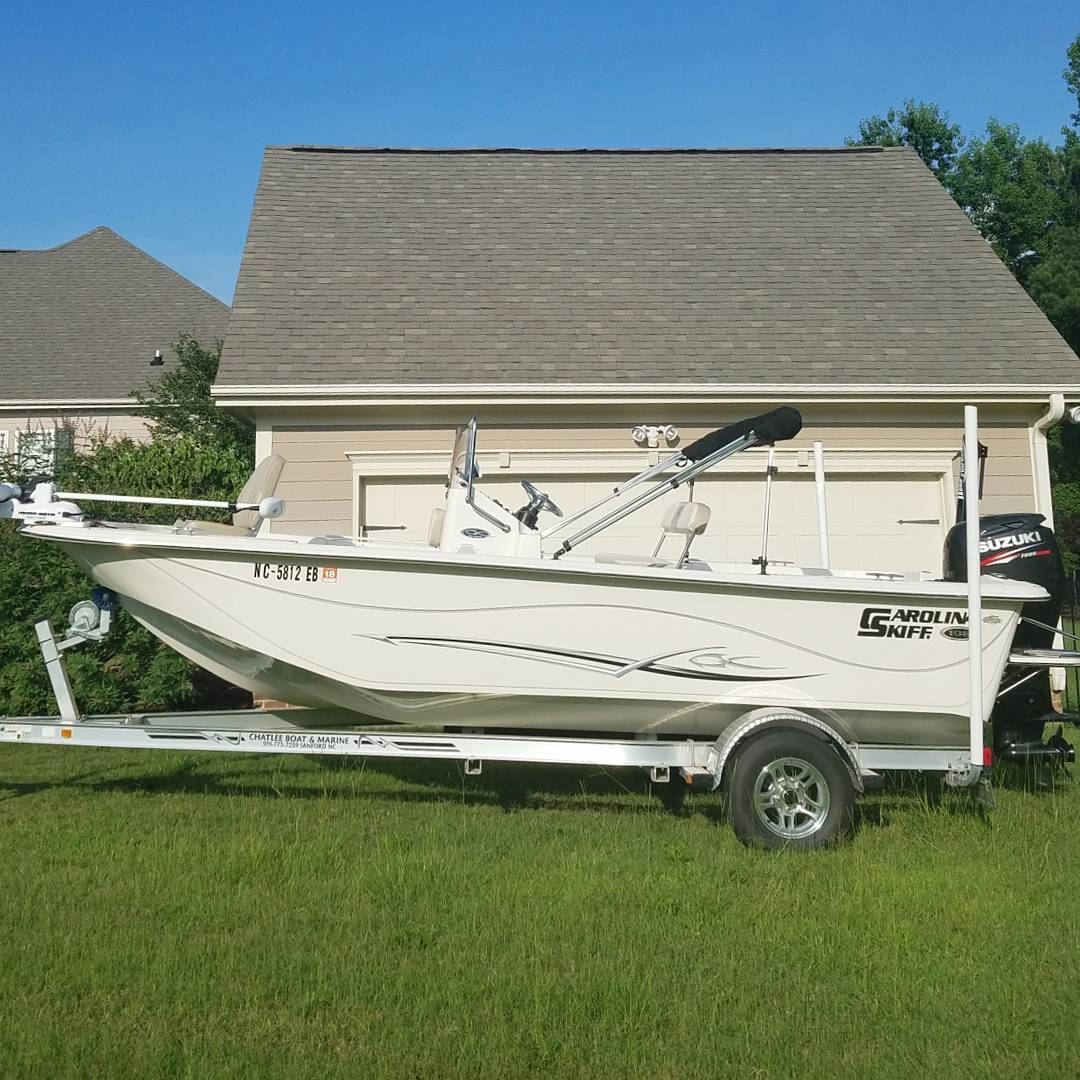 New listing! 2015 Carolina Skiff 198 DLV. This super low hour one owner boat is ...