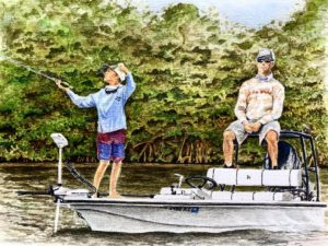 A beautiful watercolor my brother Randy did recently of my buddy Ethan and his d…