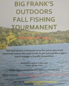 Bass Tournament for small watercraft.  Boats 17′ and less, kayak, Solo skiff, Ul…