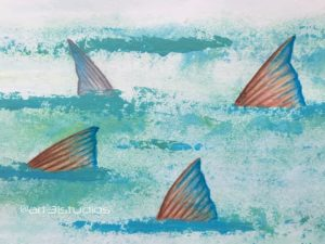 """One fish, two fish, redfish, bonefish."" Illustration on watercolor paper.  …"