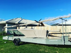 One of our custom covers for this 12ft skiff. Custom mast and boat cover made by…