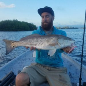 So stoked to finally get a redfish. Big thank you to  for helping me get this on…