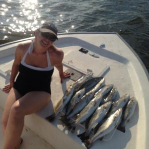to a midday trout smashing on mobile bay with my wife                         …
