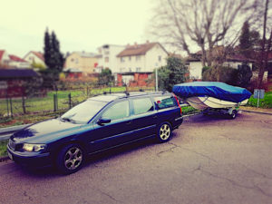 i love this combo. My Volvo V70 and a little 14 foot fishing boat.  …