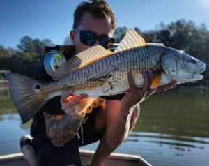 showing a little leg… also, a really nice redfish. . .  …