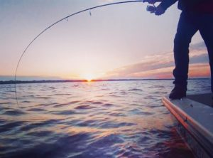 Fish on at sunset.             …