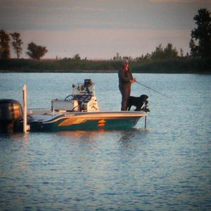 to when I had a black trolling motor and Pride was still able to fish with me 1…