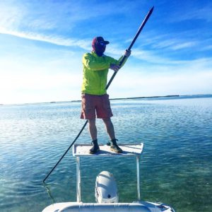 I spent the first day of 2018 polling a skiff and casting to saltwater fish deep…