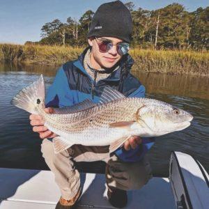 Epic Georgia redfish bite!