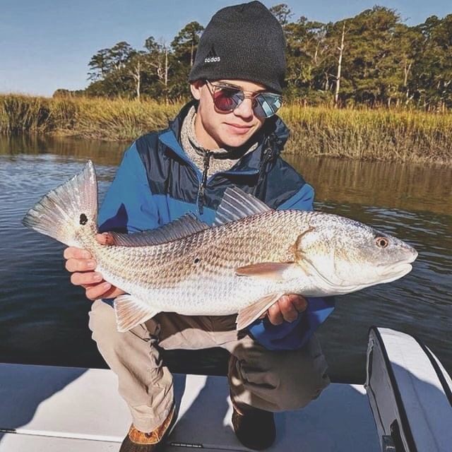 Epic Georgia redfish bite!