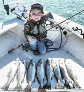 4 year old  ・・・ Fastball put the smackdown on some nice trout mid day during …