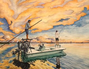 And amazing watercolor painted by my brother  for next weekend's Beavertail Skif…