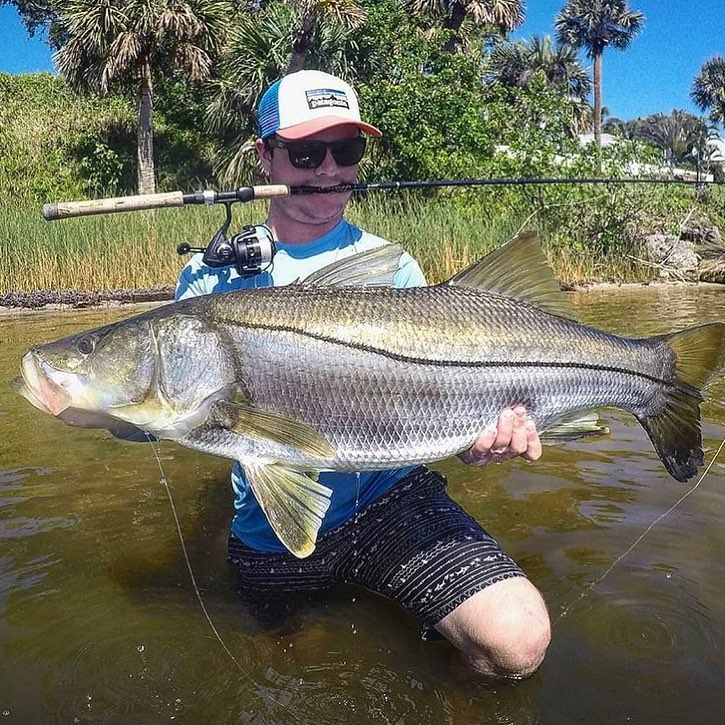 Beautiful snook caught by @justin_menendez