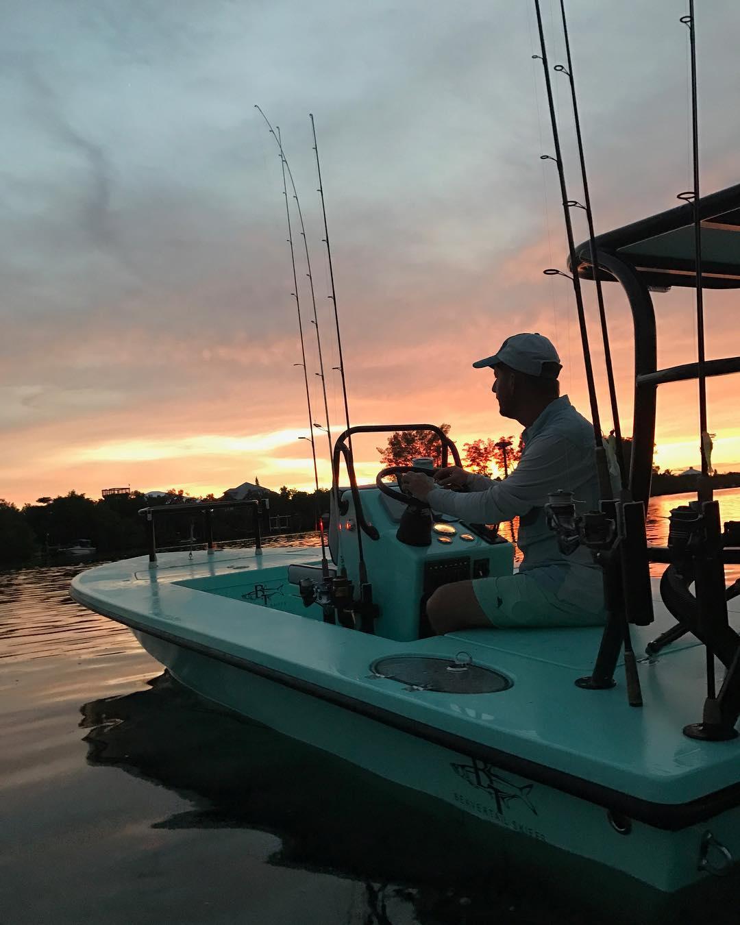 Beavertail Skiff in the sunset