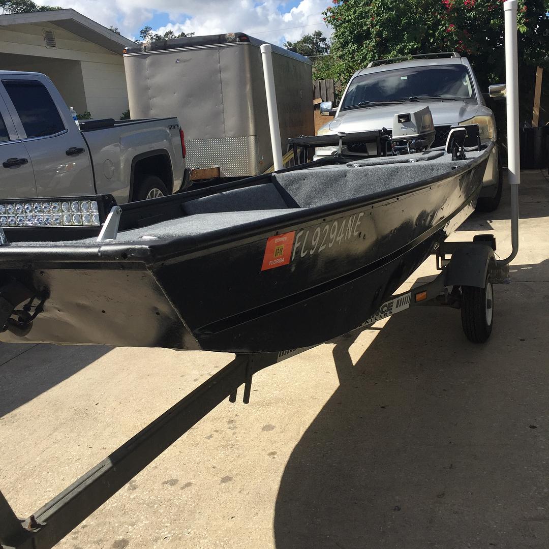 Finally got my John boat done        ...