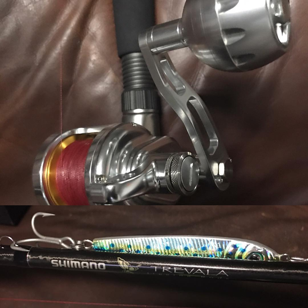 Fly Master Jigging reel with a Shimano Trevala rod!!                            ...