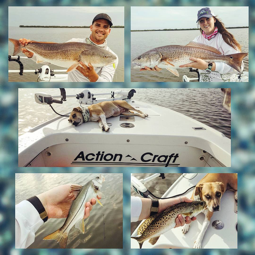 Just another beautiful day on the water back in August with a few nice reds and ...
