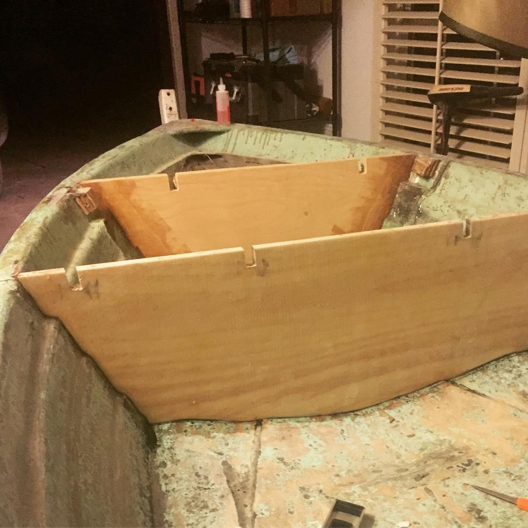 Last bulkhead Glued + snug like a glove    ...