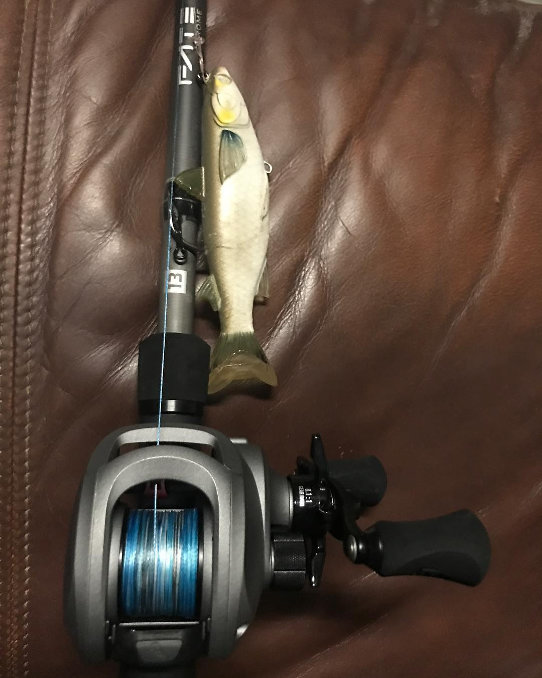 My new Baitcaster 13 Fishing concept reel and rod! Thanks                       ...
