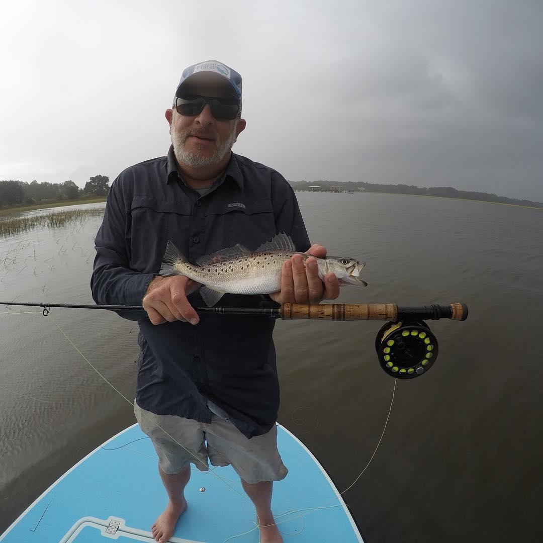 Nice sea trout despite the rain! - -  ...
