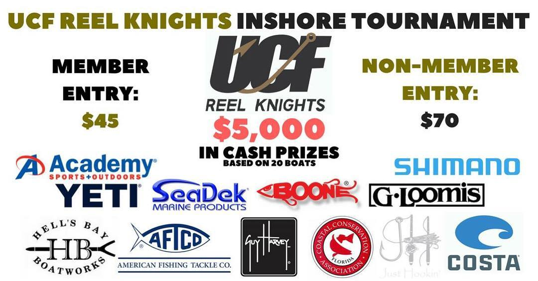 Saturday Oct. 21. UCF Reel Knights Fishing Tournament. ucffishingclub.weebly.com...