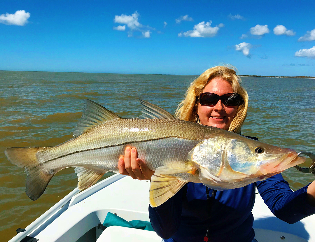 Susi absolutely was on fire today to smoke this super cool Everglades Grand Slam...