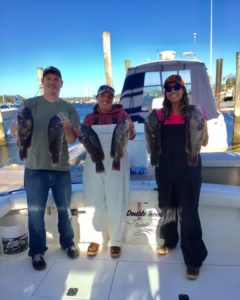 We had a great time on our Blackfish charter yesterday aboard Double Trouble Spo…