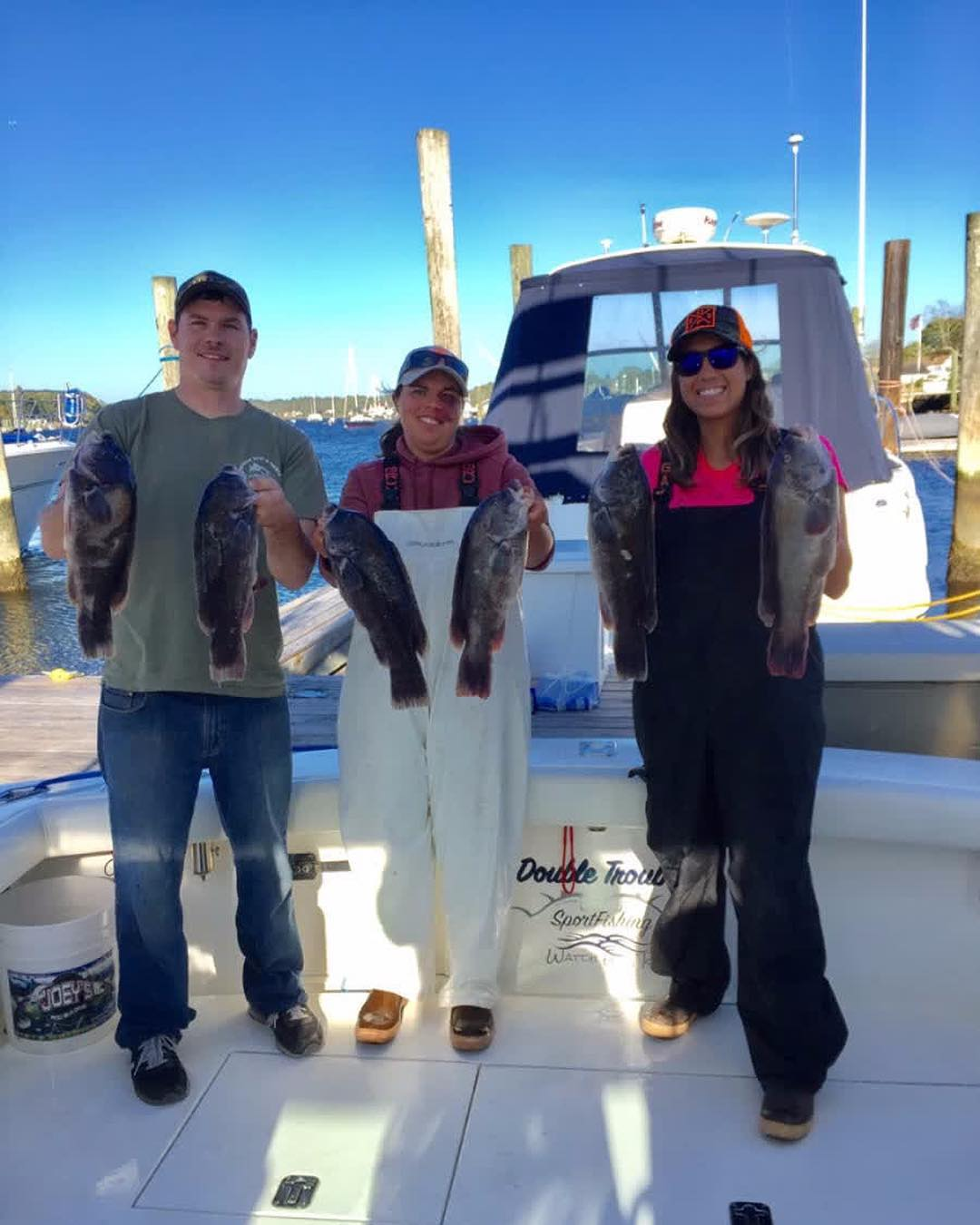 We had a great time on our Blackfish charter yesterday aboard Double Trouble Spo...