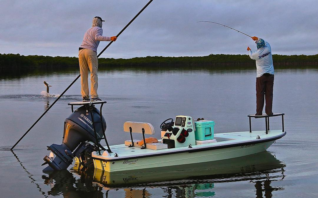 with this Tarpon on fly from the TV Series  Here you see them on their  Mirage ...