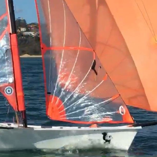 Past training session trying to perfect our downwind straight lining   ...