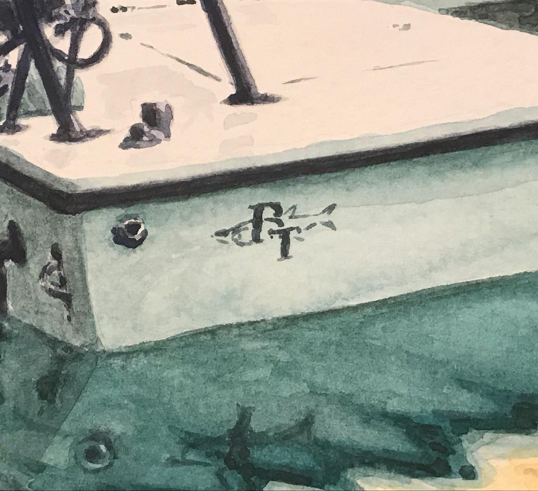 The Beavertail Skiffs logo was my favorite part of the painting... a few short m...